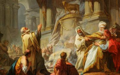 Roboão causa separação entre as tribos; 10 tribos seguem Jeroboão; Um profeta faz predição e um leão mata-o; Aías prediz a ruína da casa de Jeroboão
