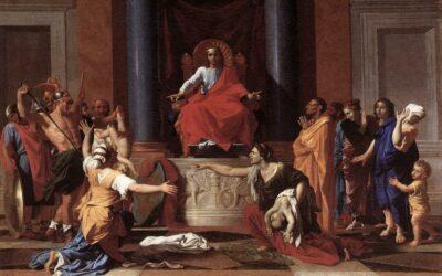 Salomão julga a causa de duas mulheres; A grandeza do seu reino e sua sabedoria; Os preparativos para edificar o templo